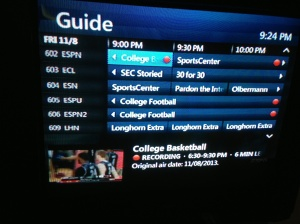Did your DVR look like this Friday?