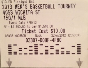 I placed this bet last Thanksgiving