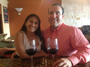 My then-girlfriend Betsaida and I toast to our new lives in Lawrence, KS.