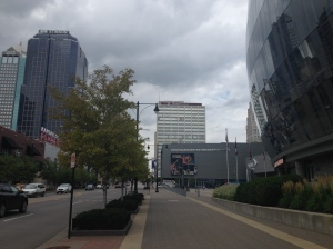 "The CBE is tucked inside Kansas City's Sprint Center within the ""Power and Light District."""