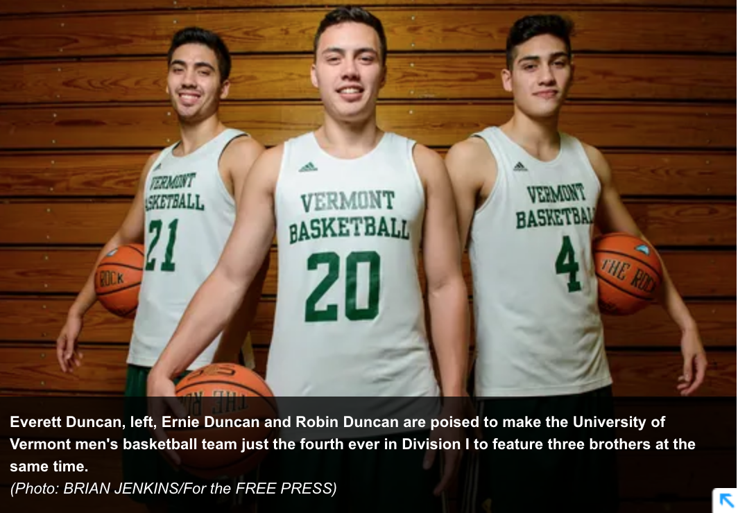 Ducan brothers courtesy burlington free press